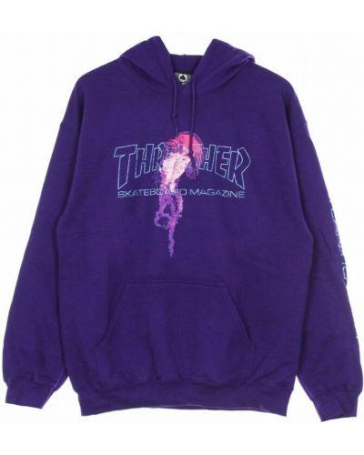Fioletowa bluza Thrasher