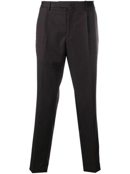 Ватные хлопковые коричневые чиносы с карманами Dell'oglio