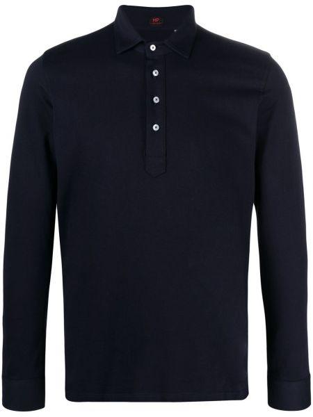 Niebieska koszula bawełniana z długimi rękawami Mp Massimo Piombo