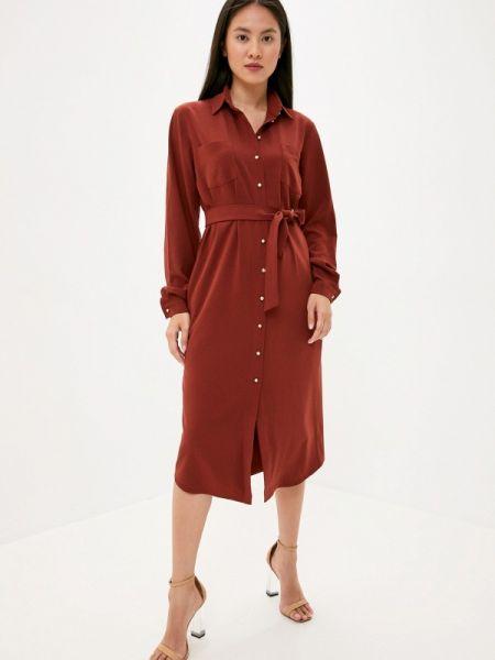 Коричневое платье Laroom