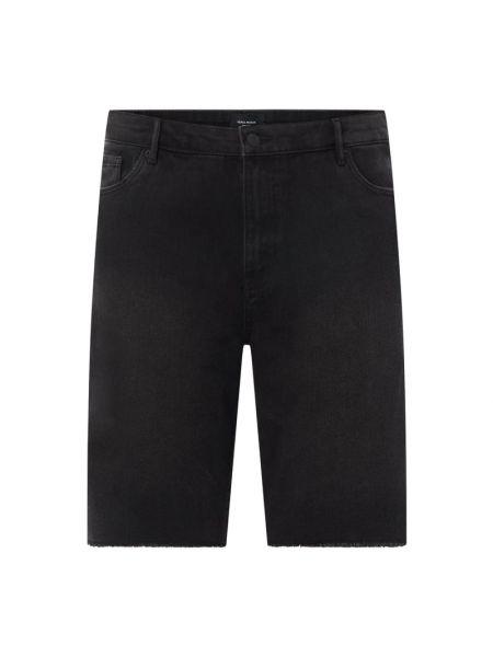 Czarne szorty jeansowe bawełniane Vero Moda Curve