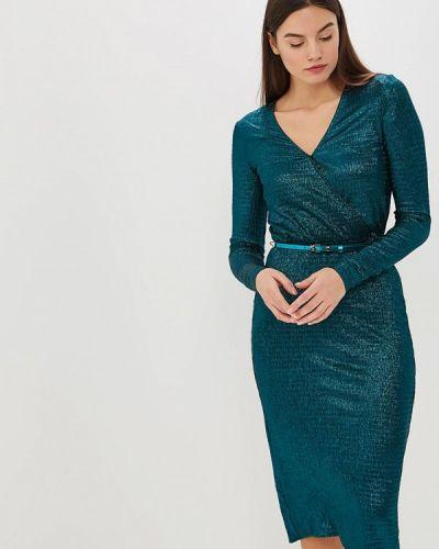 Вечернее платье бирюзовый осеннее Zarina