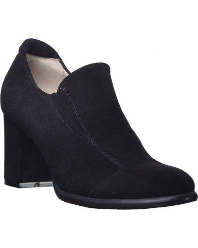 Туфли на каблуке замшевые кожаные Kelton