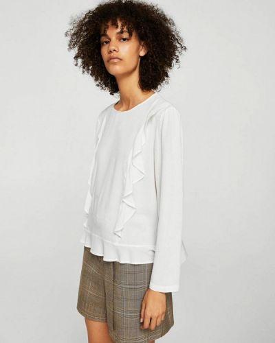 Белая блузка с рюшами Mango