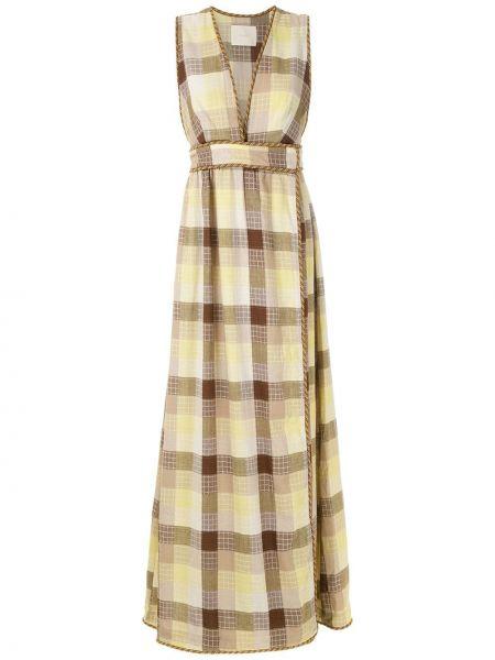 Платье с запахом с V-образным вырезом Framed