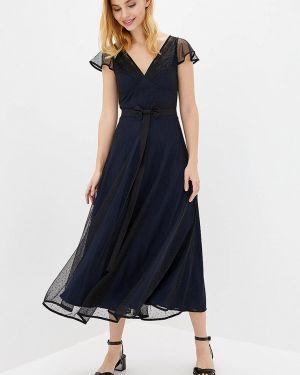 Вечернее платье осеннее синее Arefeva