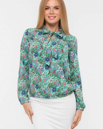 Текстильная бирюзовая блузка текстиль хаус