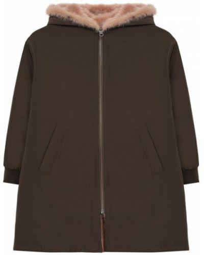 Пальто хаки зеленый Yves Salomon Enfant