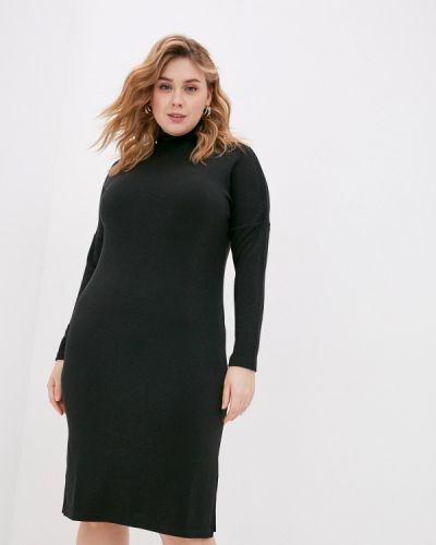 Вязаное трикотажное черное платье Base Forms