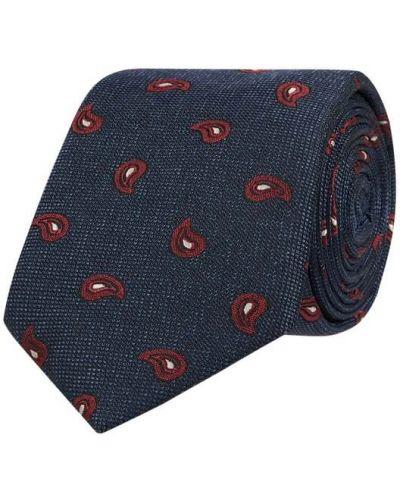 Niebieski klasyczny krawat z jedwabiu Tommy Hilfiger