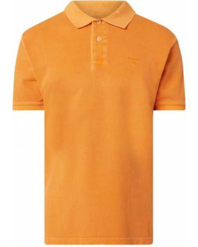 T-shirt bawełniana - pomarańczowa Barbour