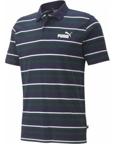 Поло в полоску с логотипом Puma