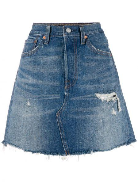 Синяя классическая джинсовая юбка на молнии со складками Levi's®