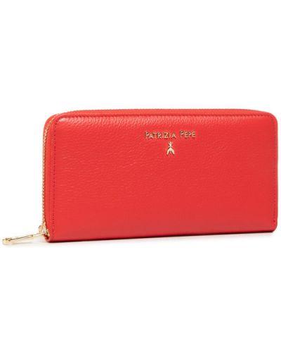 Czerwony portfel oversize Patrizia Pepe