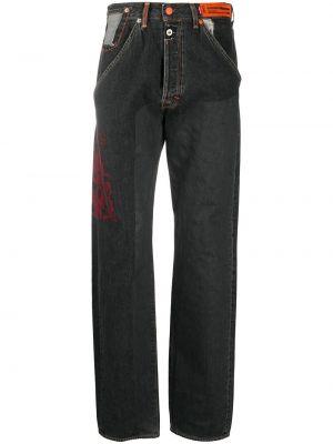 Черные джинсы с нашивками с потайной застежкой Heron Preston