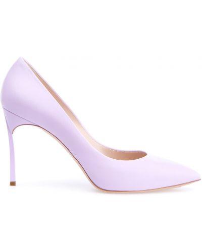 Туфли на каблуке кожаные Casadei
