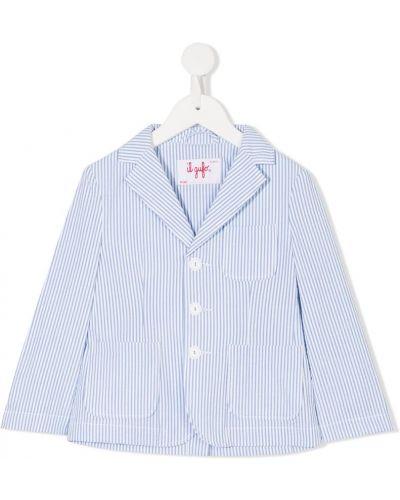 Пиджак синий белый Il Gufo