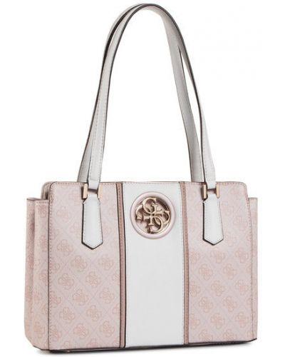 Różowa torba podróżna Guess