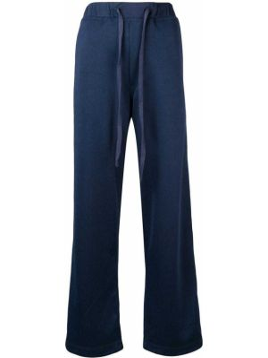 Синие спортивные брюки с карманами на шнурках À La Garçonne