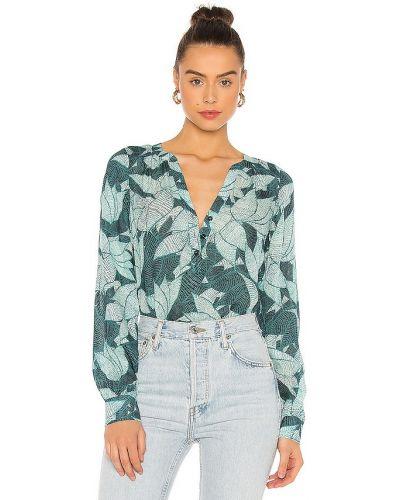 Шелковая блузка - зеленая Parker