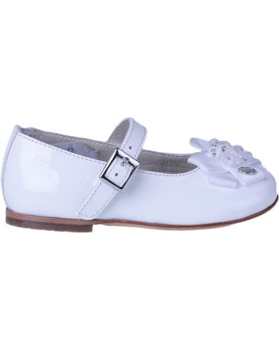 Туфли лаковые белые Armani Junior