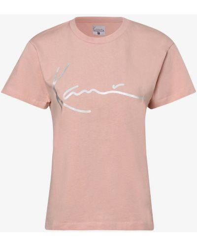 Różowy t-shirt z printem Karl Kani