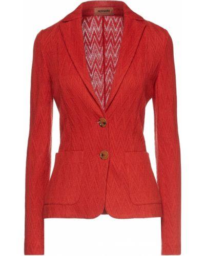 Открытый шерстяной пиджак с накладными карманами Missoni