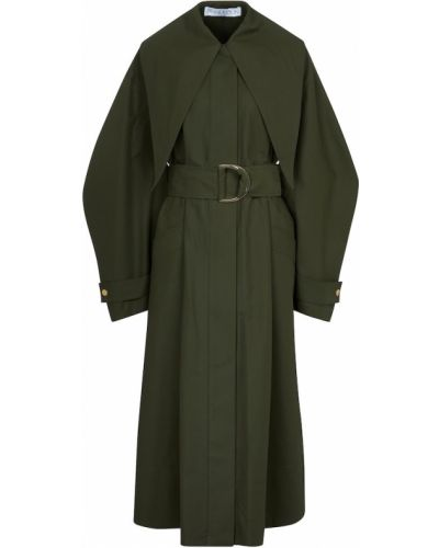 Ватное хлопковое зеленое пальто Jw Anderson