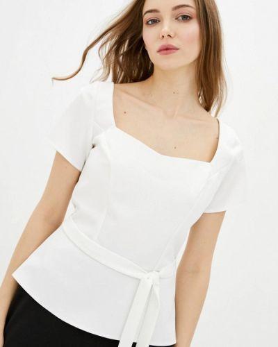 Белая блузка с короткими рукавами Zubrytskaya