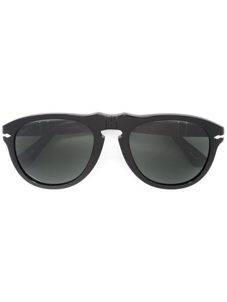 Муслиновые черные солнцезащитные очки круглые Persol