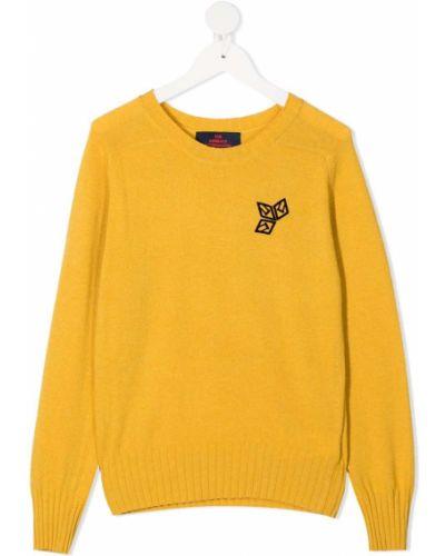 Żółty z kaszmiru długi sweter z długimi rękawami The Animals Observatory