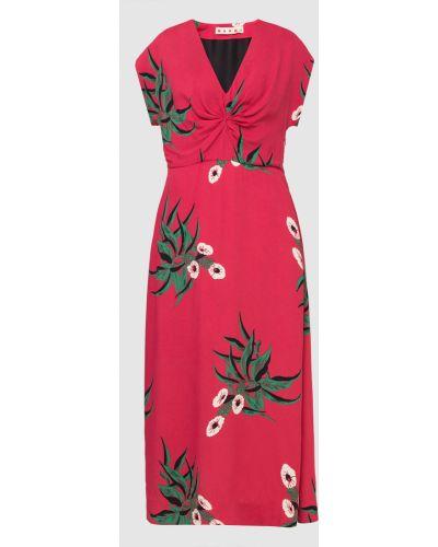 Малиновое платье макси Marni