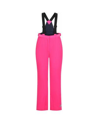 Прямые розовые водонепроницаемые брюки Glissade
