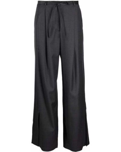 Шерстяные брюки - серые Eudon Choi