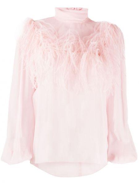 Шелковая блузка прозрачная с воротником Giambattista Valli