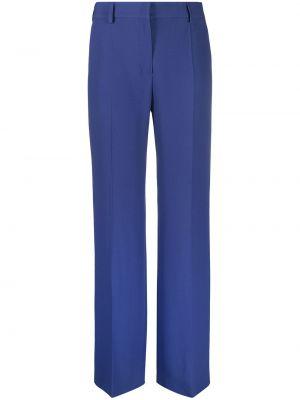 Со стрелками расклешенные синие брюки Alberta Ferretti