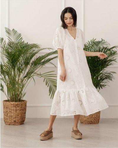 Платье свободного кроя - белое Azuri