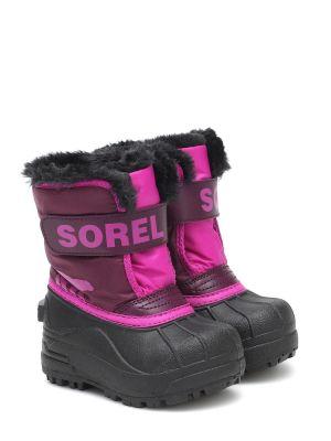 Малиновые текстильные сапоги Sorel Kids