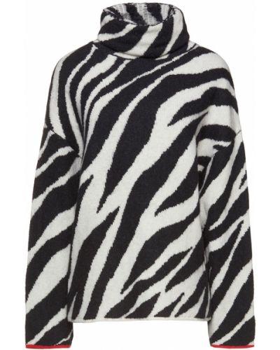 Czarny sweter wełniany z printem Rag & Bone