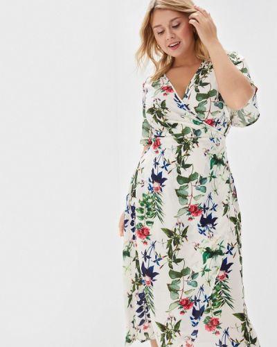 Платье с запахом весеннее Zizzi