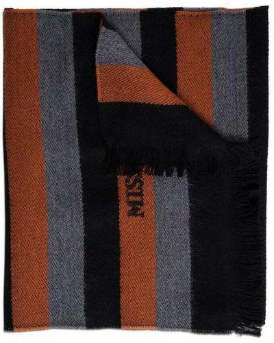 Czarny szalik wełniany Missoni