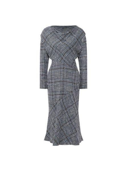 Приталенное шелковое платье с длинными рукавами с драпировкой Kiton