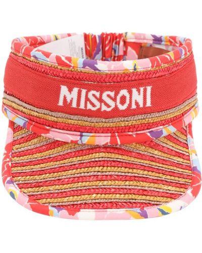 Козырек с логотипом ажурный Missoni
