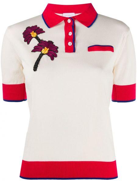 Хлопковая рубашка с коротким рукавом с воротником на пуговицах с короткими рукавами Stella Jean