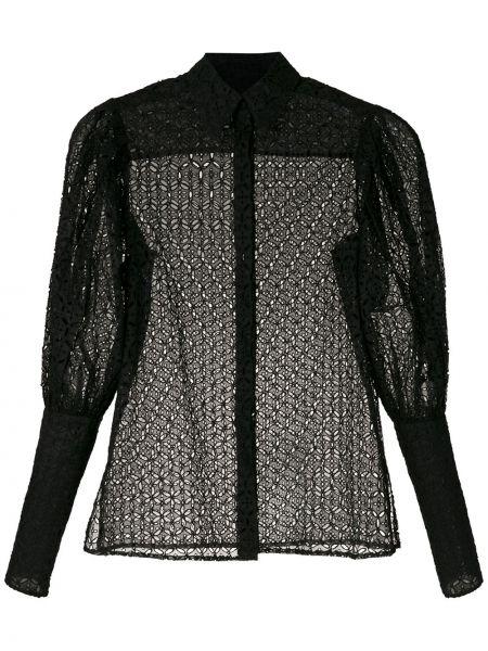 Длинная рубашка - черная Reinaldo Lourenço