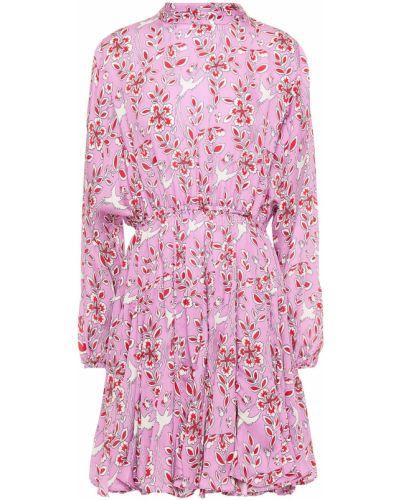Różowa sukienka mini z wiskozy Rhode