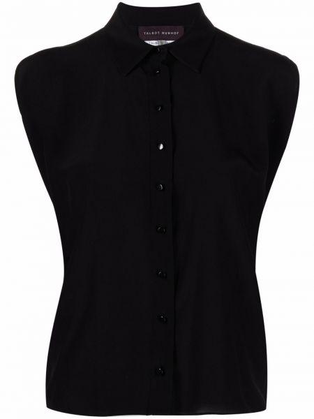 Шелковая блузка - черная Talbot Runhof