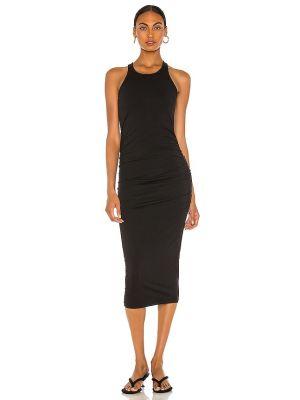 Трикотажное платье миди - черное Michael Stars