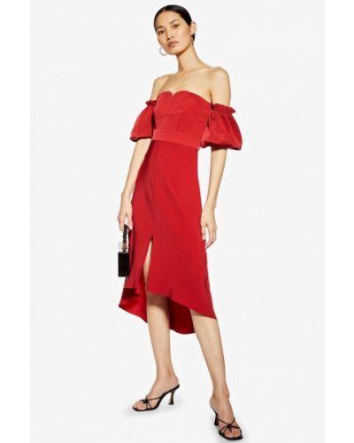 Вечернее платье весеннее красный Topshop