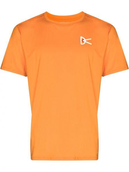 Pomarańczowa koszulka z printem District Vision